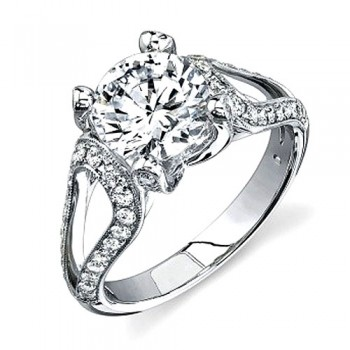 Matthew Ryan Design Diamond Engagement Ring in 14KT White Gold  MR2139