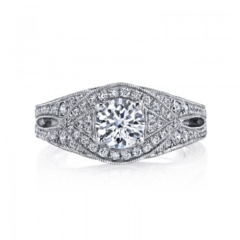 MARS 26208 Diamond Engagement Ring 0.95 Ctw.