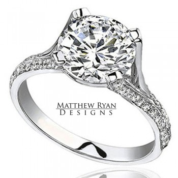 Matthew Ryan Design Diamond Engagement Ring in 14kt White Gold MRD0105