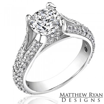 Matthew Ryan Design Diamond Engagement Ring in 14KT White Gold MRD0104