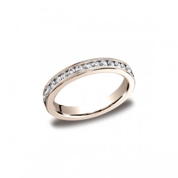 Diamonds Rose Gold 3mm Diamond Band