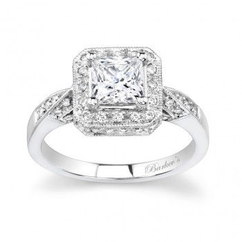 Unique Halo Engagement Ring - 7088LW