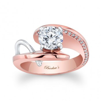 Barkev's Designer Solitaire Diamond Engagement Ring in 14KT Rose Gold 7619LTW