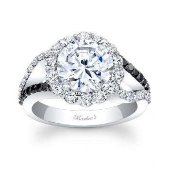 Black & White Diamond Engagement Ring