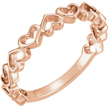 14kt Rose Gold Heart Shape Ring 51574
