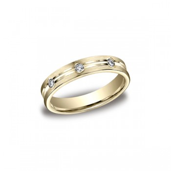 Diamonds Yellow Gold 4mm Diamond Band