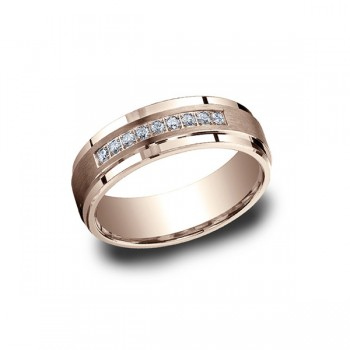 Diamonds Rose Gold 7mm Diamond Band