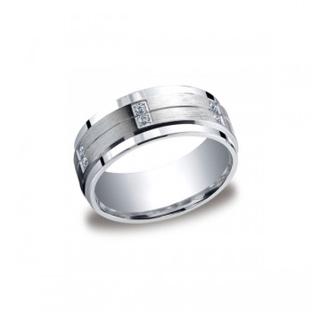 Diamonds Argentium Silver 9mm Diamond Band