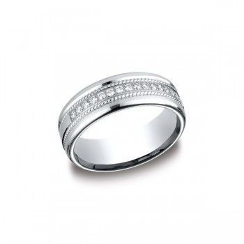Diamonds White Gold 7.5mm Diamond Band