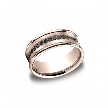 Diamonds Rose Gold 7.5mm Black Diamond Band