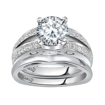 Caro74 14K White Gold Diamond Engagement Ring Setting CR143W