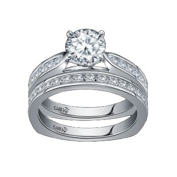 Caro74 14K White Gold Diamond Engagement Ring Setting CR184W