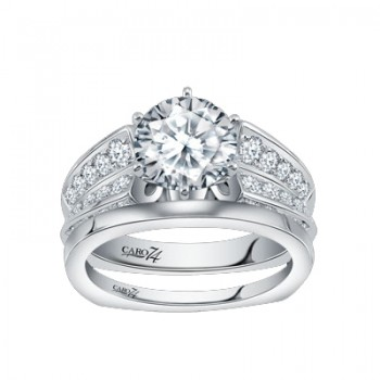 Caro74 14K White Gold Diamond Engagement Ring Setting CR222W