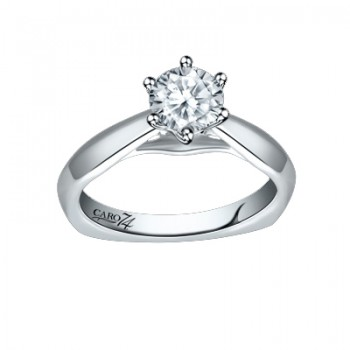 Caro74 14K White Gold Diamond Engagement Ring Setting CR249W