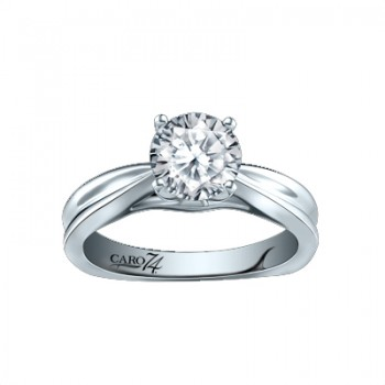 Caro74 Solitaire Engagement Ring Settting CR251W