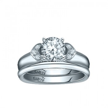 Caro74 14K White Gold Diamond Engagement Ring Setting CR261W