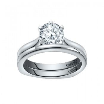 Caro74 Platinum Diamond Engagement Ring Setting CR285PT