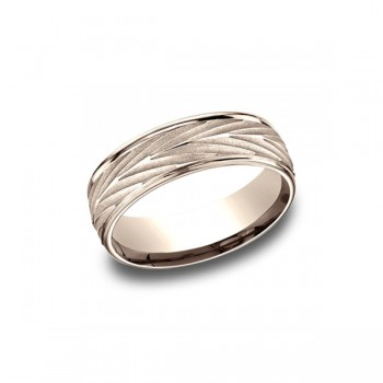 Designs Rose Gold 7mm Band