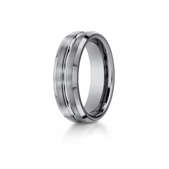 Benchmark 7mm Comfort Fit Tungsten Carbide Wedding Band Style Number: CF67439TG