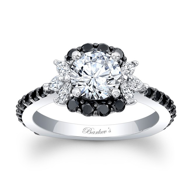 Barkevs Black Diamond Engagement Ring 7930LBKW