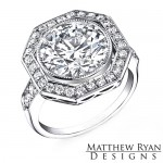 Matthew Ryan Design Diamond Engagement Ring in 14KT White Gold MRD0106