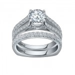 Caro74 14K White Gold Diamond Engagement Ring Setting CR188W