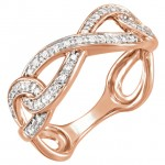 14kt Rose Gold Infinity Ring with 1/8 carat Total weight in diamonds size 7.0 51589