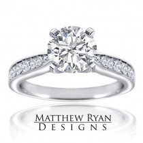 Matthew Ryan Design Diamond Engagement Ring in 14KT White Gold MRD0107