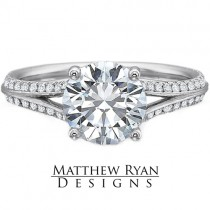 Matthew Ryan Design Diamond Engagement Ring in 14kt White Gold with 0.60 ct  in Round Side Diamonds MRD0102