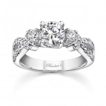 White Gold Engagement Ring - 7682LW