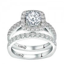 Caro74 14K White Gold Diamond Engagement Ring Setting CR157W