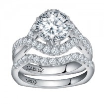 Caro74 14K White Gold Diamond Engagement Ring Setting CR159W