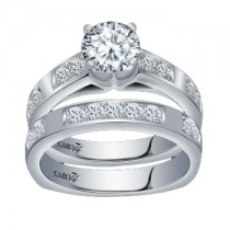 Caro74 14K White Gold Diamond Engagement Ring Setting CR162W