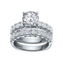 Caro74 14K White Gold Diamond Engagement Ring Setting CR182W
