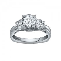 Caro74 14K White Gold Diamond Engagement Ring Setting CR196W