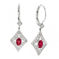 Diamond Dangling Earrings