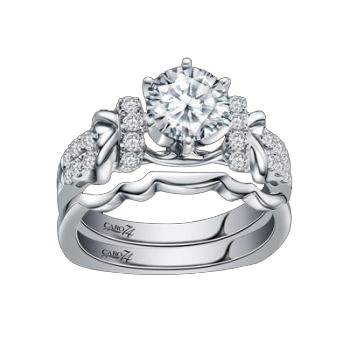 Caro74 14K White Gold Diamond Engagement Ring Setting CR198W