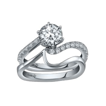 Caro74 14K White Gold Diamond Engagement Ring Setting CR204W