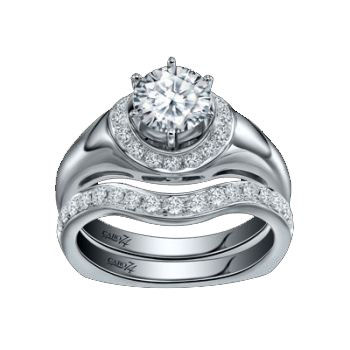 Caro74 14K White Gold Diamond Engagement Ring Setting CR208W