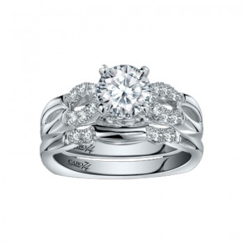Caro74 14K White Gold Diamond Engagement Ring Setting CR258W