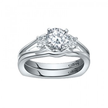 Caro74 Platinum Diamond Engagement Ring Setting CR289PT