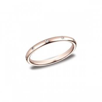 Diamonds Rose Gold 2mm Diamond Band